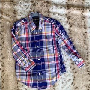Ralph Lauren 3T Boys Plaid Button Up Shirt
